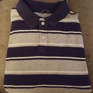 Lands End Striped Polo